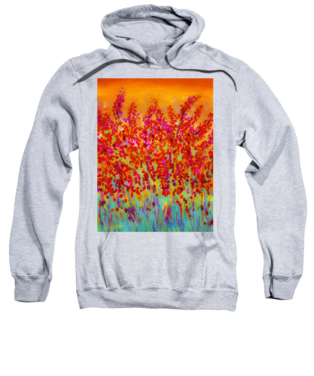 Flowers Sweatshirt featuring the painting Spring Day by Stephen Anderson