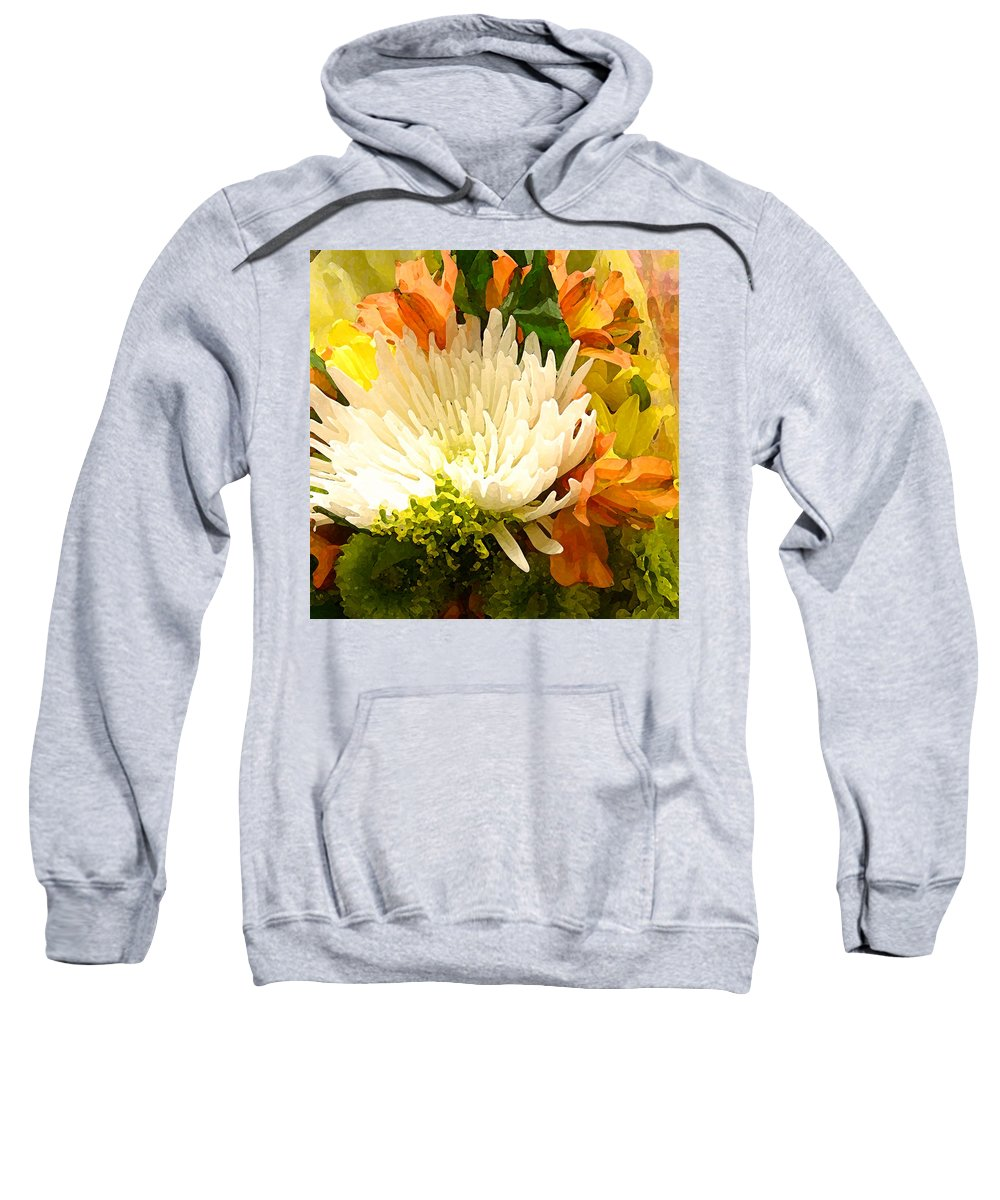 Roses Sweatshirt featuring the painting Spring Flower Burst by Amy Vangsgard