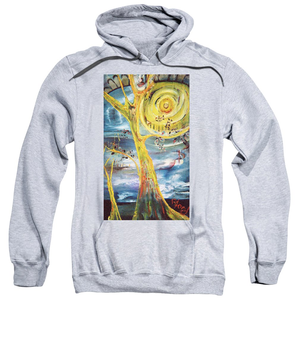 Impressionism Sweatshirt featuring the painting Spring Glory by Peggy Blood