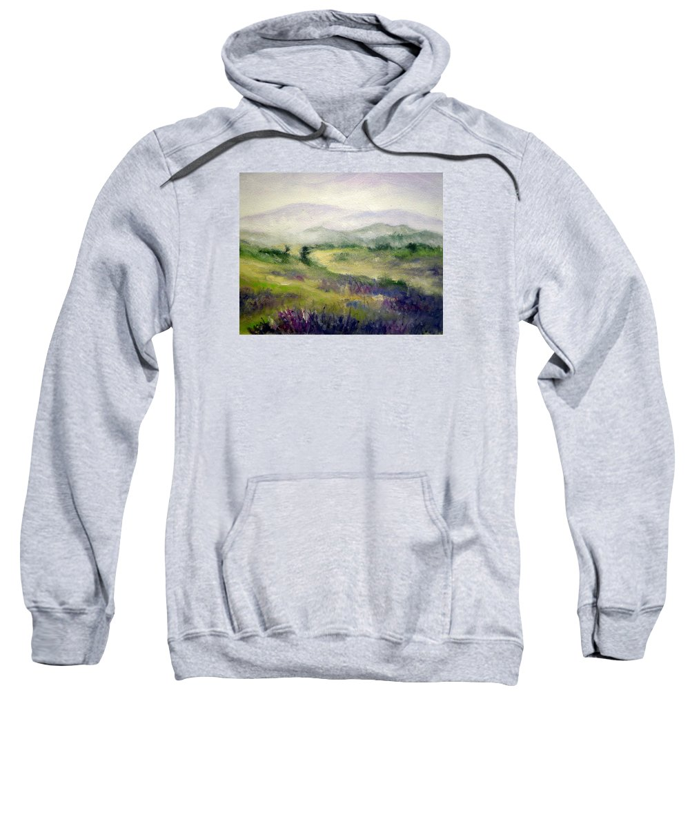 Spring Sweatshirt featuring the painting Mountain Spring Iv by Mary Taglieri