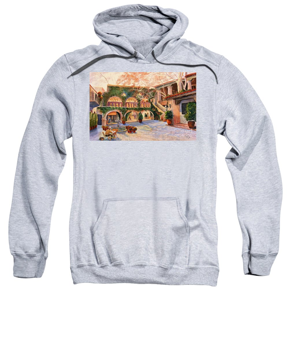 Sedona Sweatshirt featuring the painting Spring In Tlaquepaque by Marilyn Smith