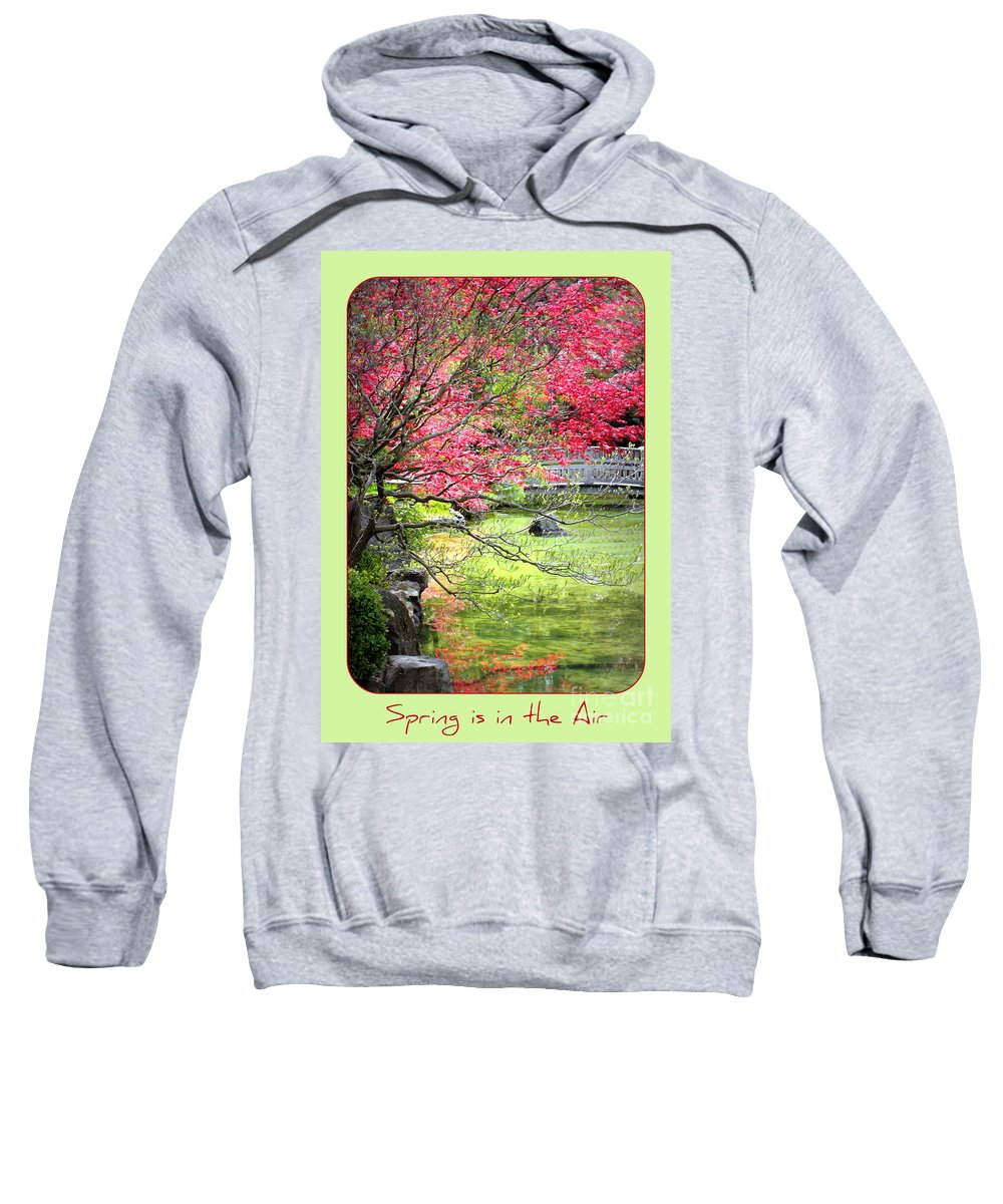Japanese Garden Sweatshirt featuring the photograph Spring Is In The Air by Carol Groenen