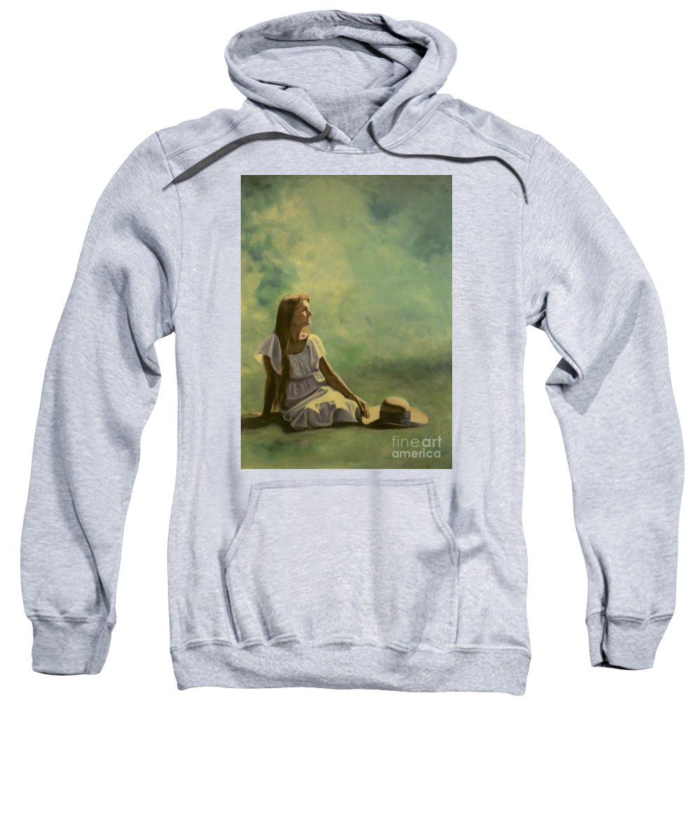 Figurative Sweatshirt featuring the painting Spring by Michael John Cavanagh