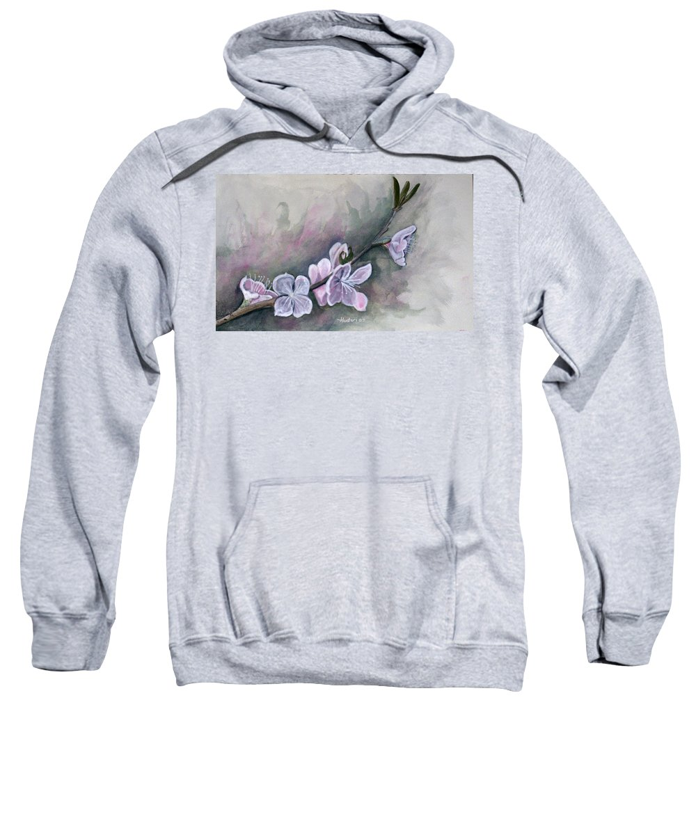 Rick Huotari Sweatshirt featuring the painting Spring Splendor by Rick Huotari