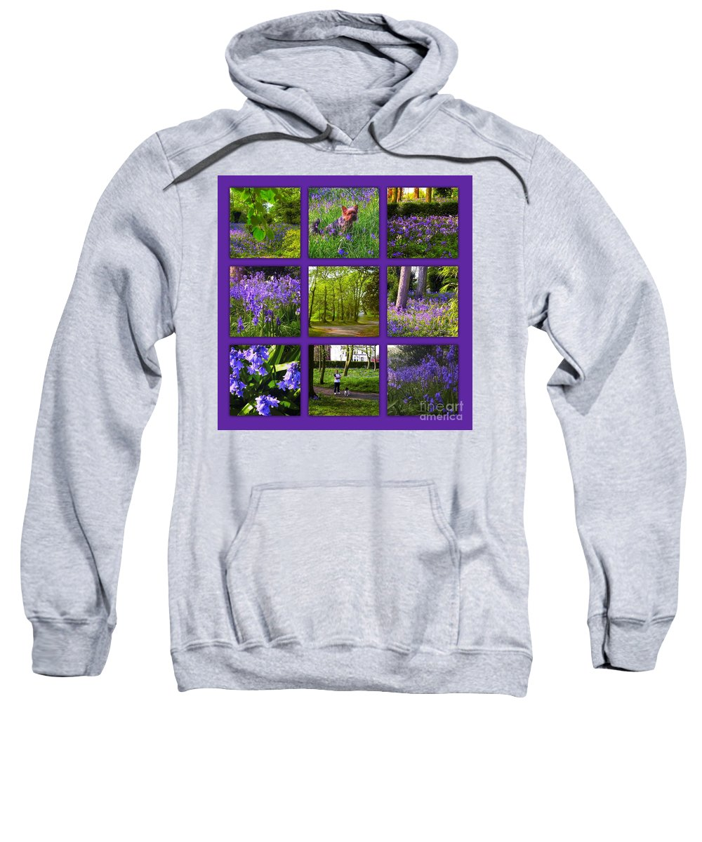 Spring Sweatshirt featuring the photograph Spring Woodland Picture Window by Joan-Violet Stretch