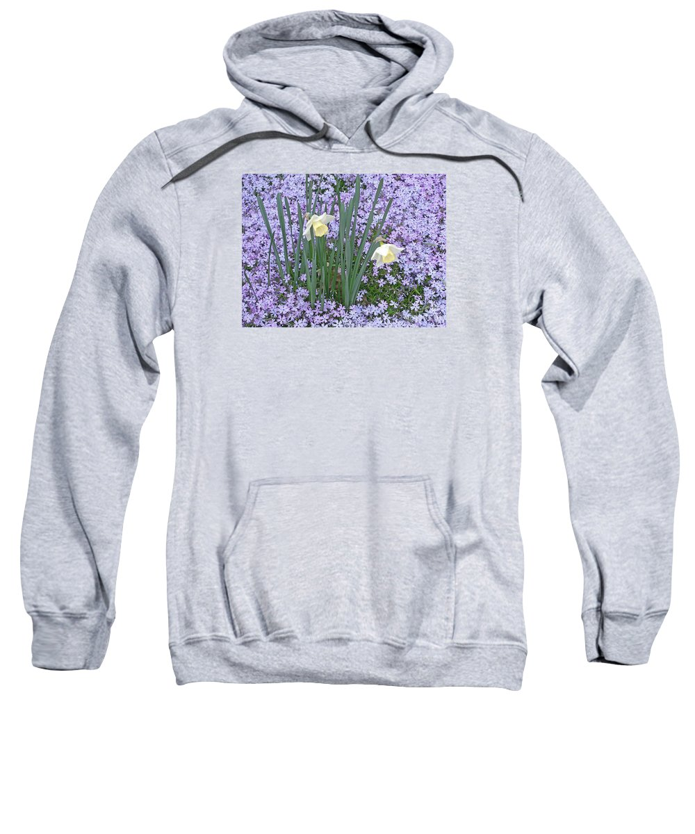 Spring Sweatshirt featuring the photograph Springtime Beauties by Ann Horn