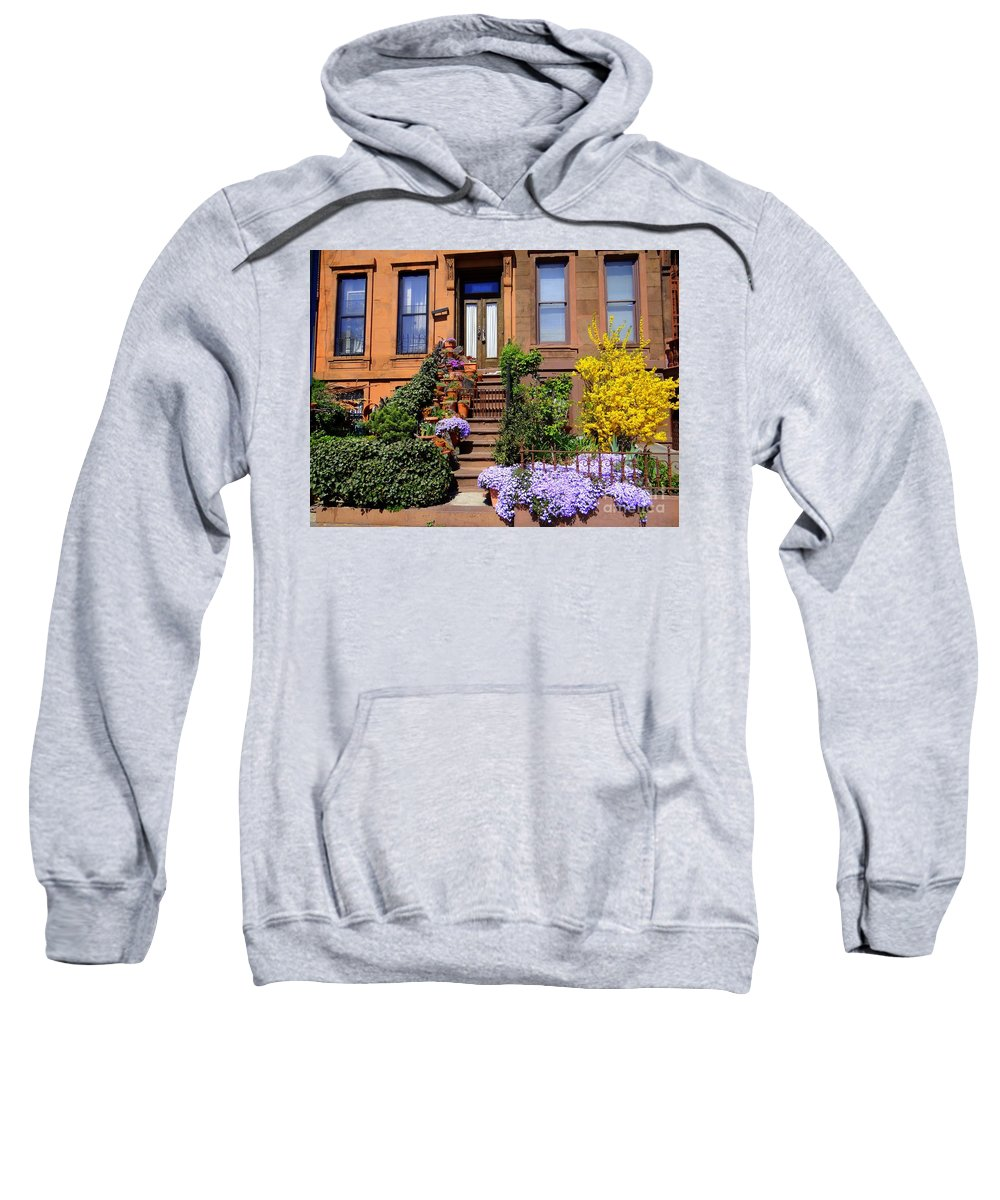 Flowers Sweatshirt featuring the photograph Springtime In Brooklyn by Ed Weidman