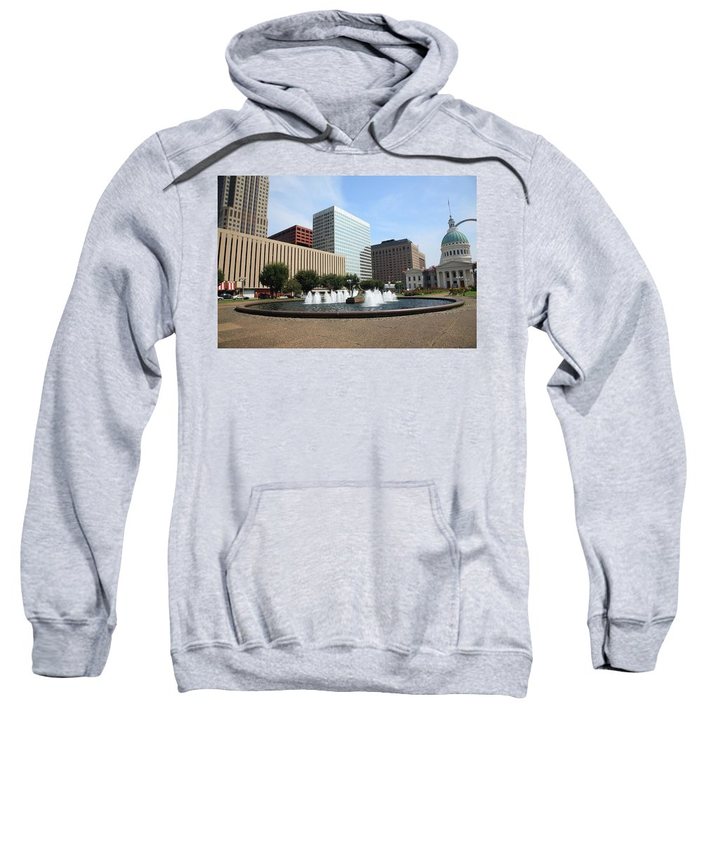 America Sweatshirt featuring the photograph St. Louis by Frank Romeo