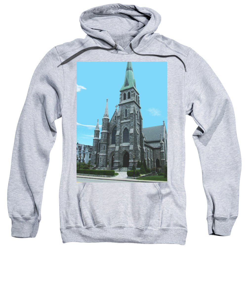 Saint Sweatshirt featuring the photograph St Patrick Cathedral by Geoffrey McLean