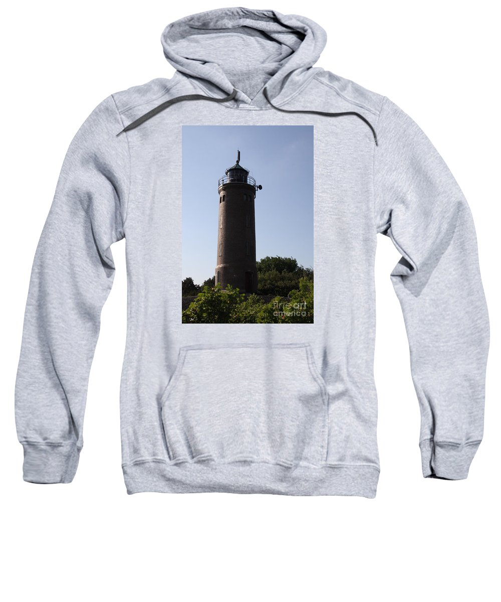 Lighthouse Sweatshirt featuring the photograph St. Peter-ording Lighthouse - North Sea - Germany by Christiane Schulze Art And Photography