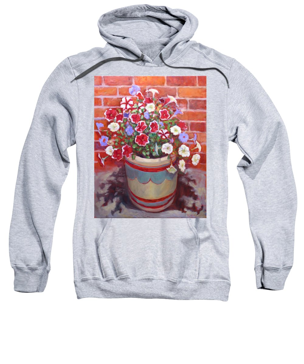 Primary Colors Sweatshirt featuring the painting St008 by Paul Emory