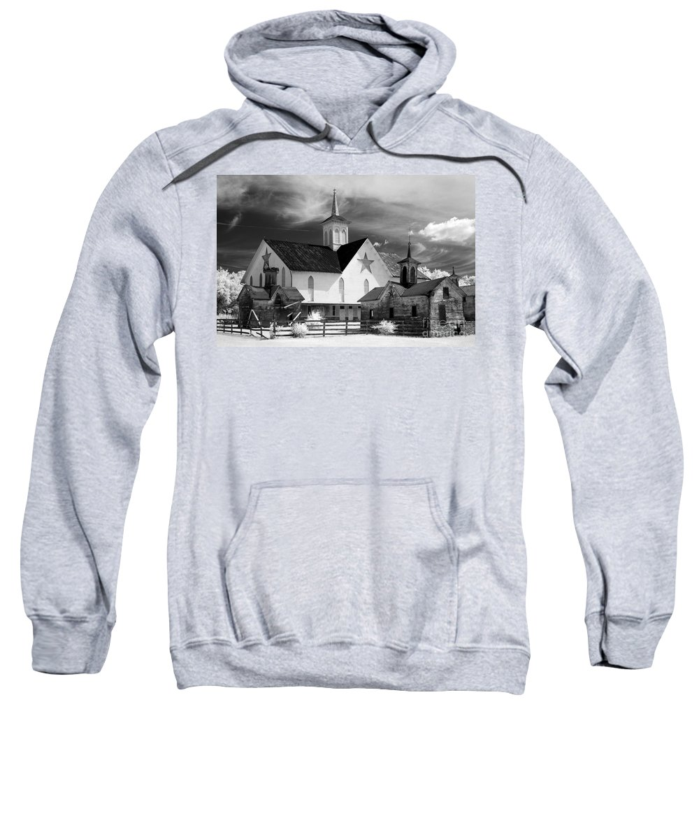 Infrared Sweatshirt featuring the photograph Star Barn Complex In Infrared by Paul W Faust - Impressions of Light
