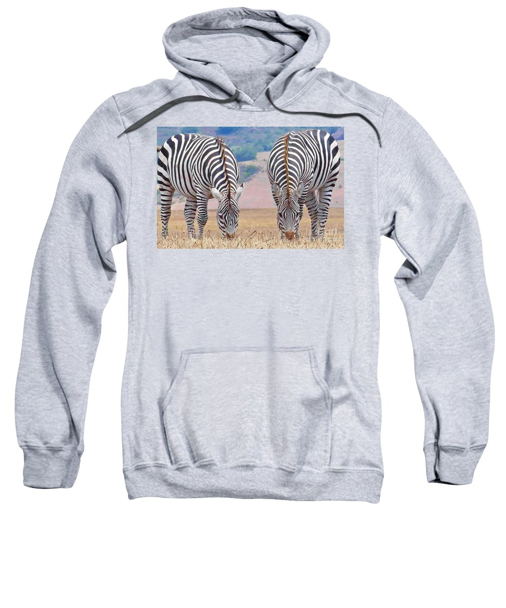Zebras Sweatshirt featuring the photograph Stares And Stripes by Kris Hiemstra