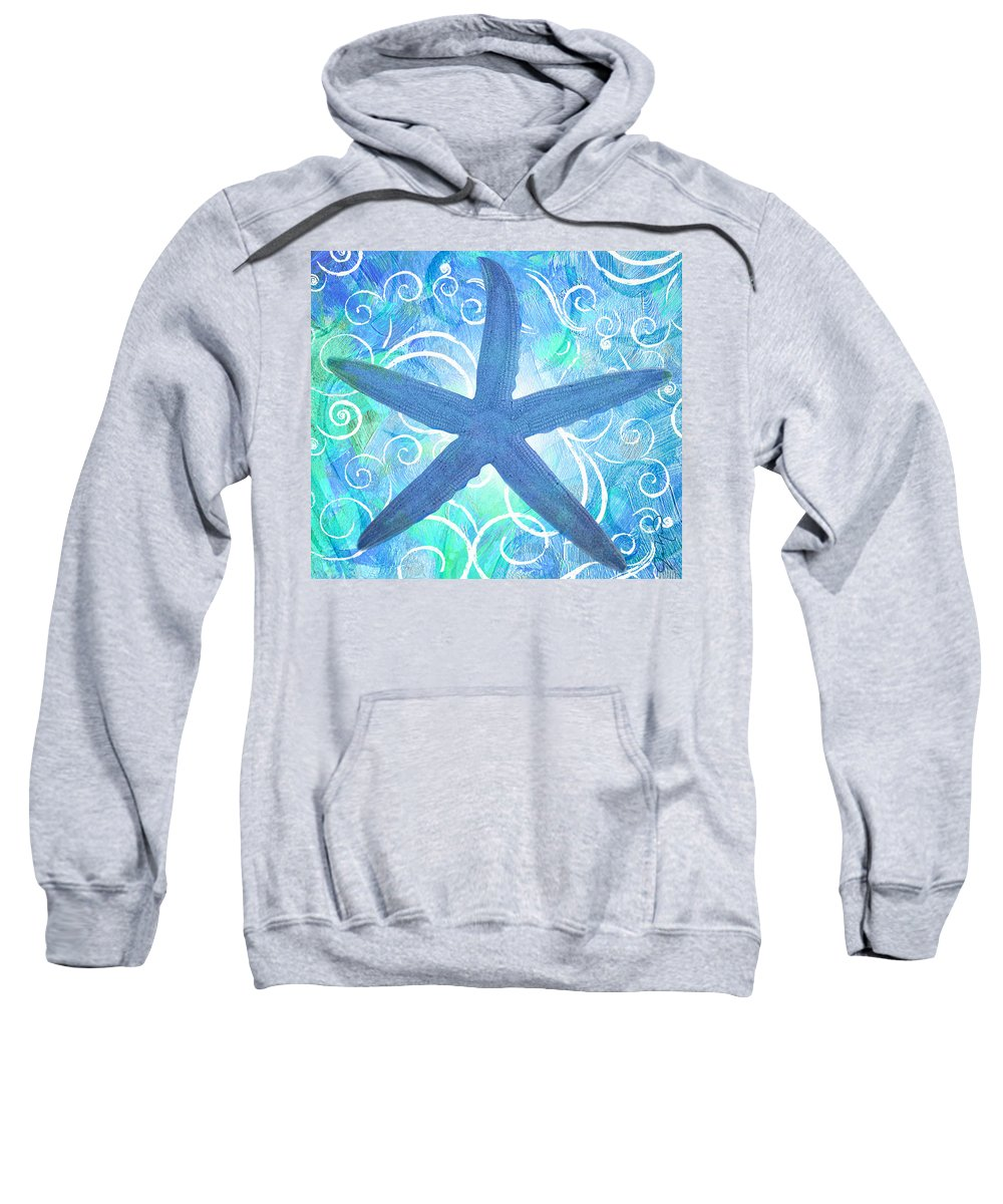 Starfish Sweatshirt featuring the painting Starfish By Jan Marvin by Jan Marvin