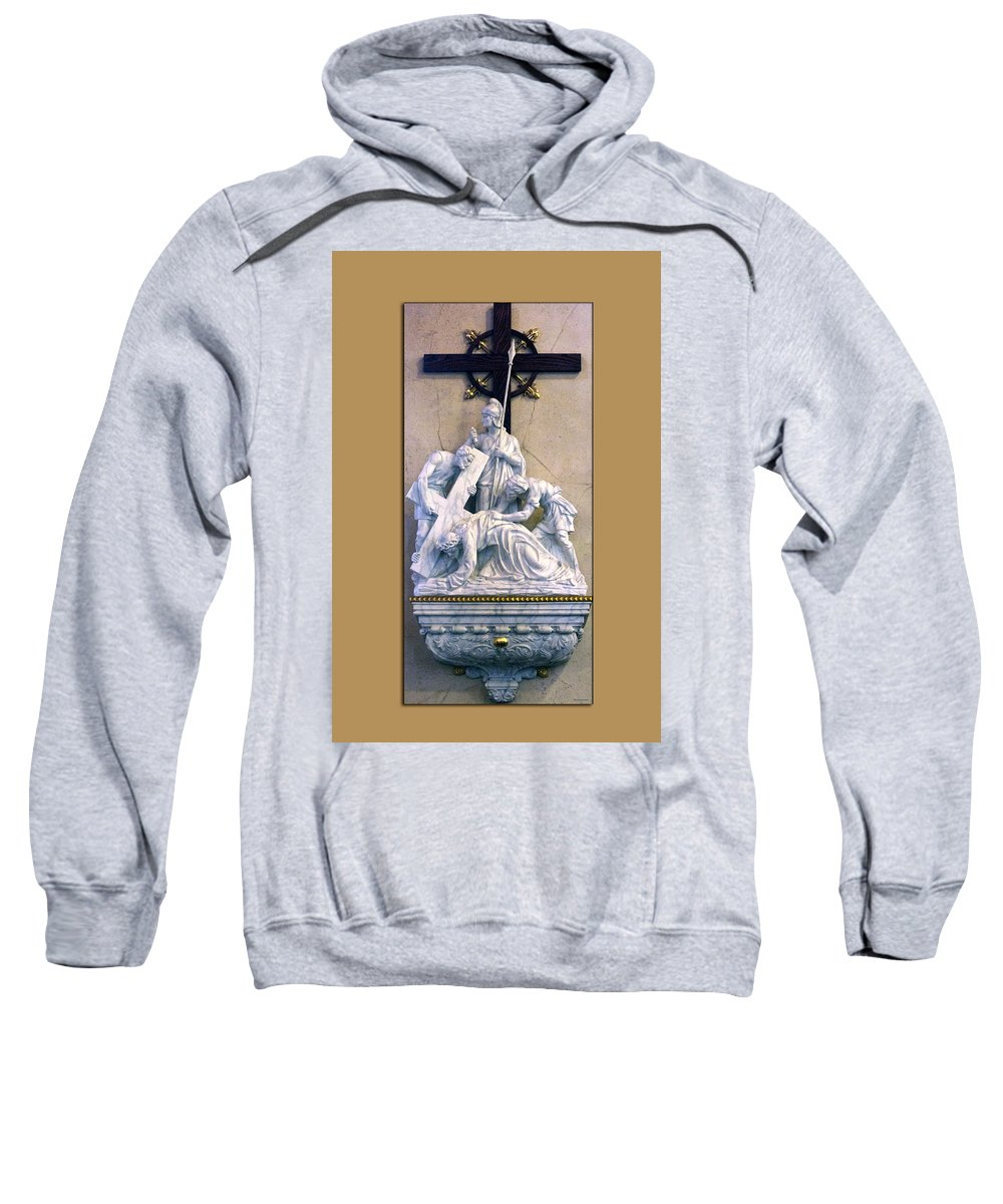 Statue Sweatshirt featuring the photograph Station Of The Cross 07 by Thomas Woolworth