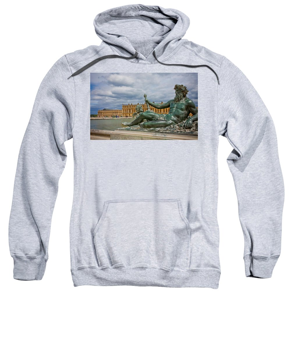 Paris Sweatshirt featuring the photograph Statue In Front Of Versailles by Anthony Doudt