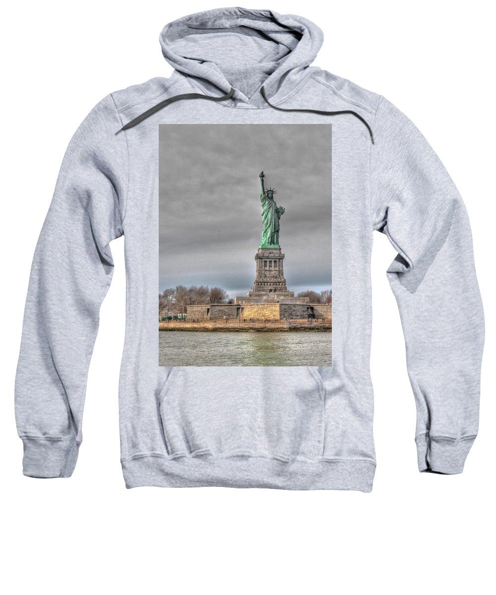 Landscape Sweatshirt featuring the photograph Staute Of Liberty by Jiayin Ma