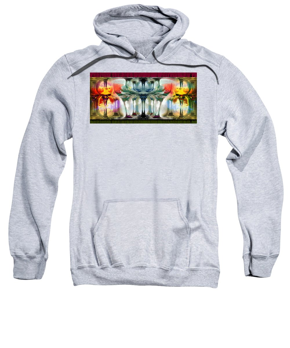 Glasses Sweatshirt featuring the photograph Stemware by John Anderson