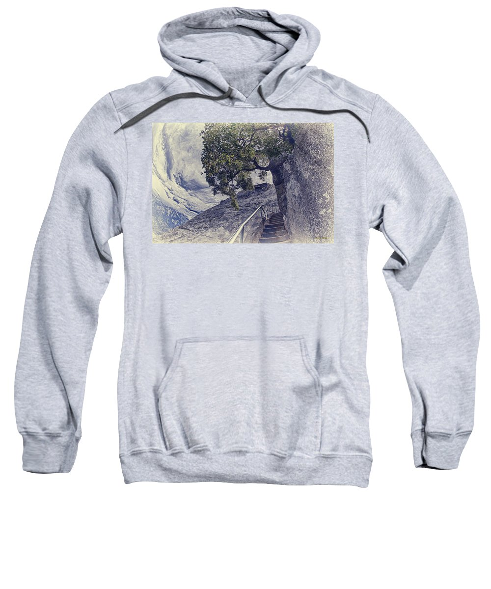 Moro Rock Sweatshirt featuring the photograph Steps To Beauty On Moro Rock by Angela Stanton