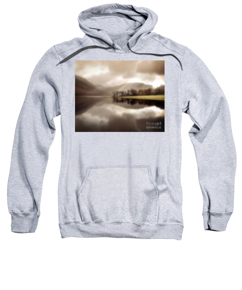 Great Britain Sweatshirt featuring the photograph Stillness Of The Water by Edmund Nagele