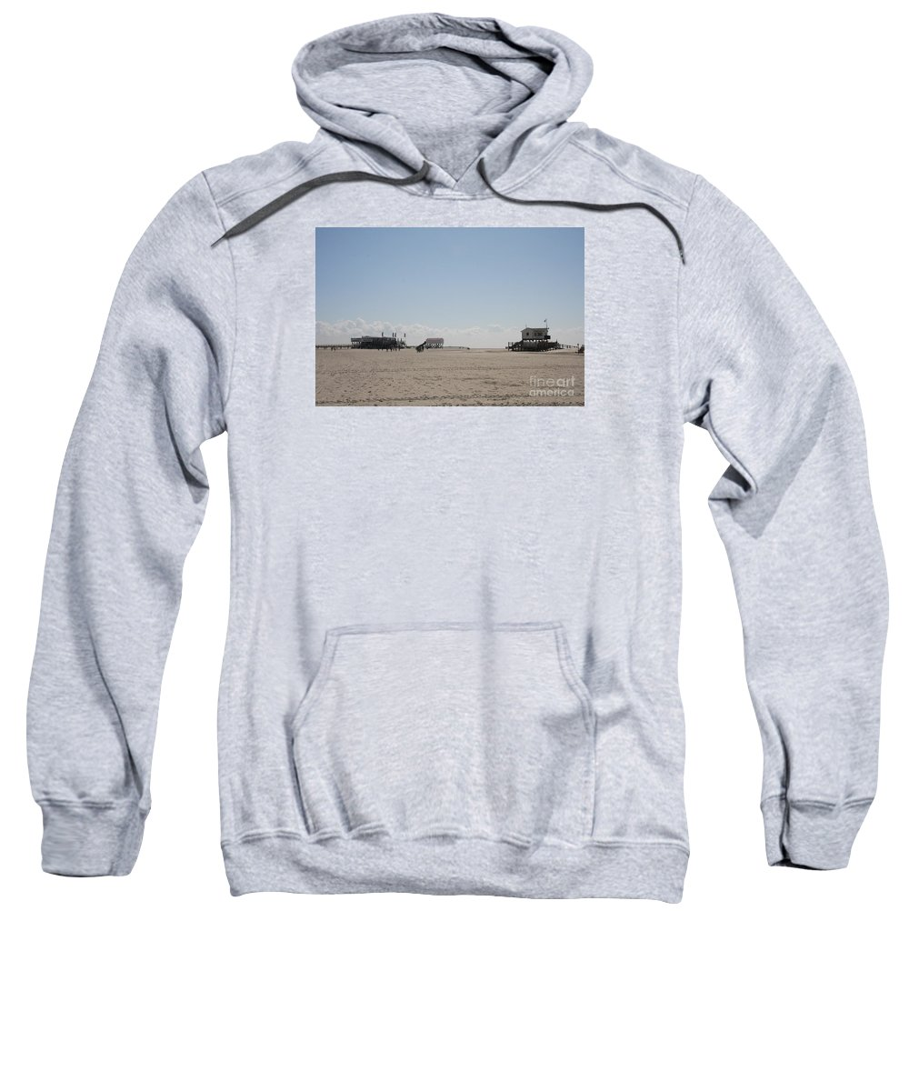 Beach Sweatshirt featuring the photograph Stilt Houses - North Sea - Germany by Christiane Schulze Art And Photography