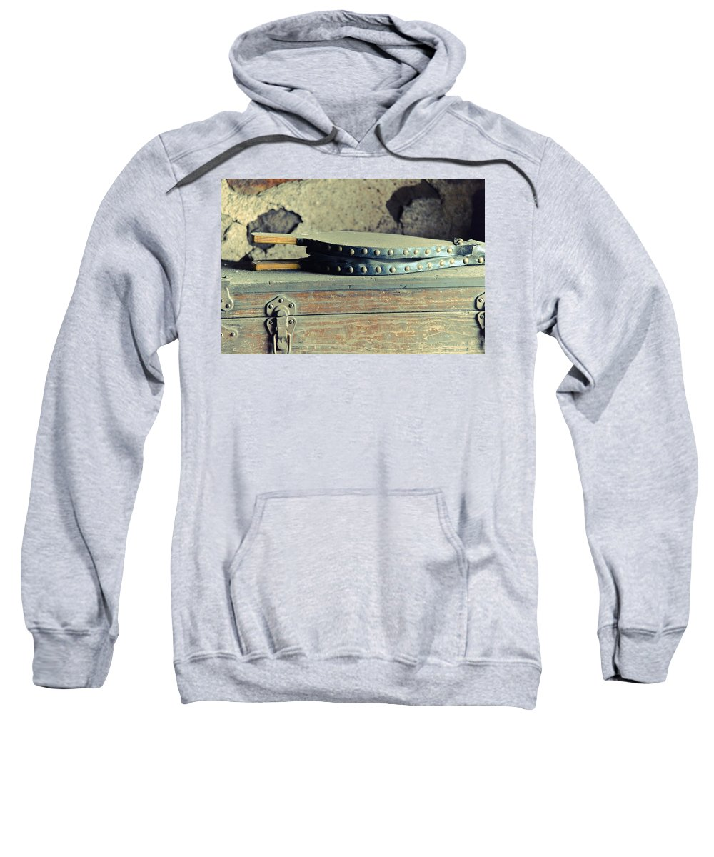 Fire Sweatshirt featuring the mixed media Stoke The Fire by Trish Tritz