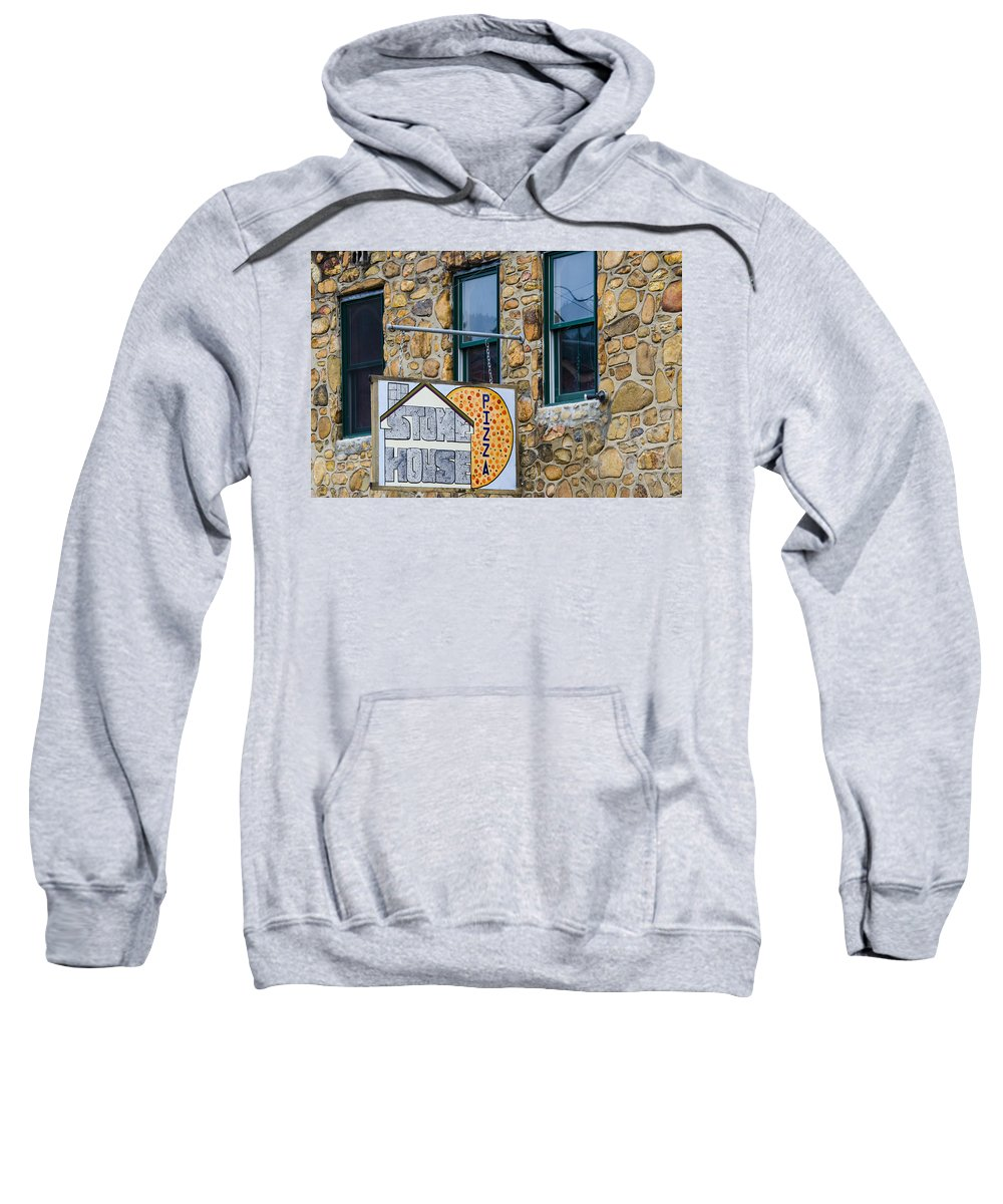 Stone House Pizza Sweatshirt featuring the photograph Stone House Pizza by Carolyn Marshall