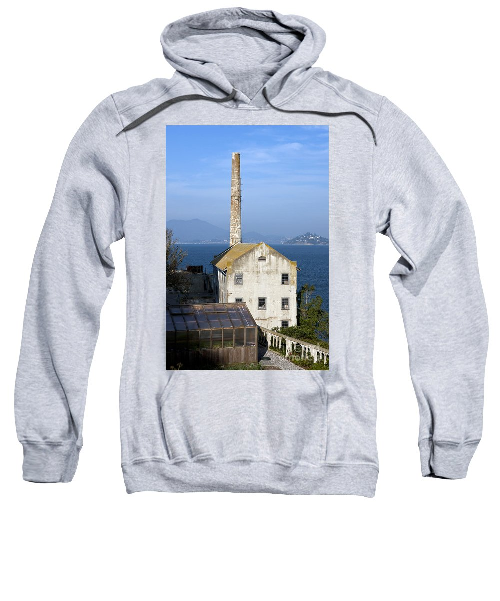 Alcatraz Sweatshirt featuring the photograph Storehouse Alcatraz Island San Francisco by Jason O Watson