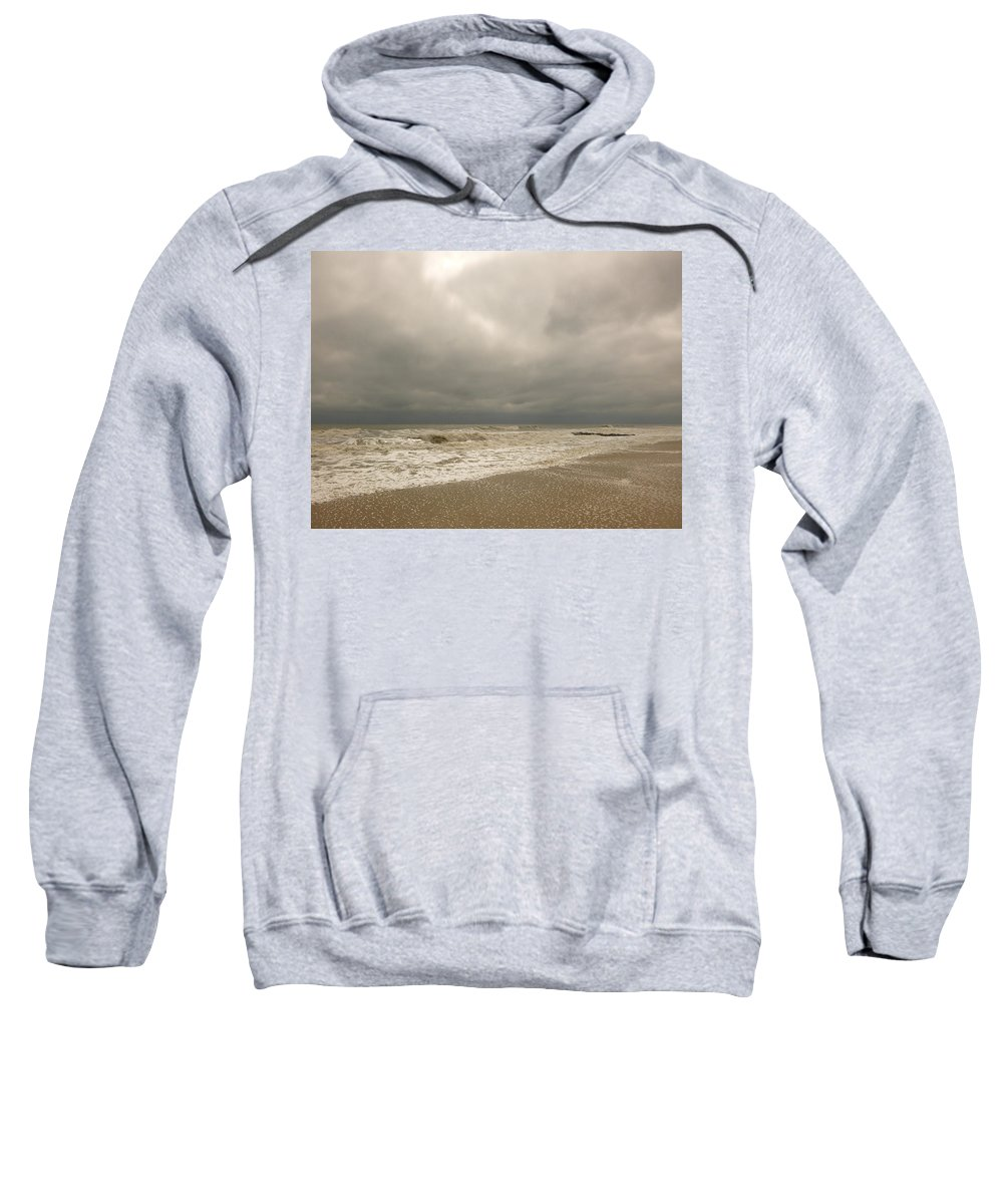 Sea Sweatshirt featuring the photograph Storm Clouds by Ellen Paull