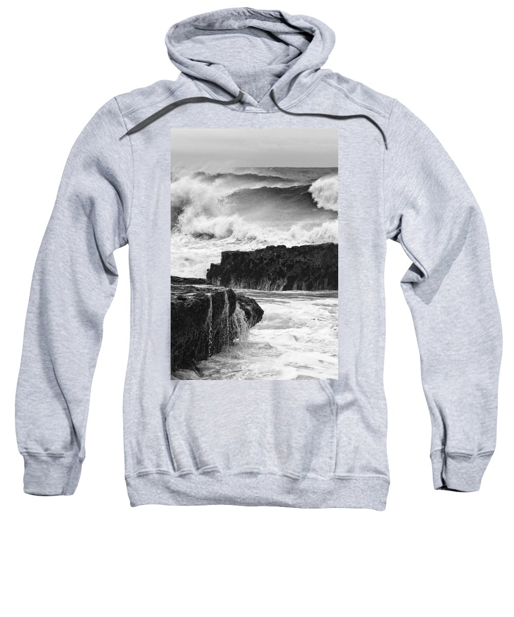 Waves Sweatshirt featuring the photograph Stormy Surf by Bruce Frye