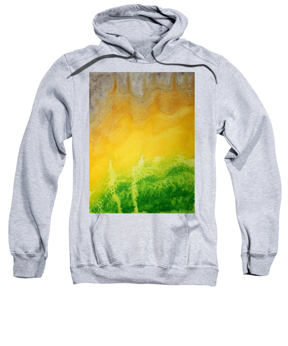 Mesa Sweatshirt featuring the painting Stormy Mesa Original Painting by Sol Luckman