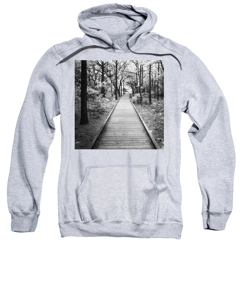 Infrared Sweatshirt featuring the photograph Straight Through by John Cardamone
