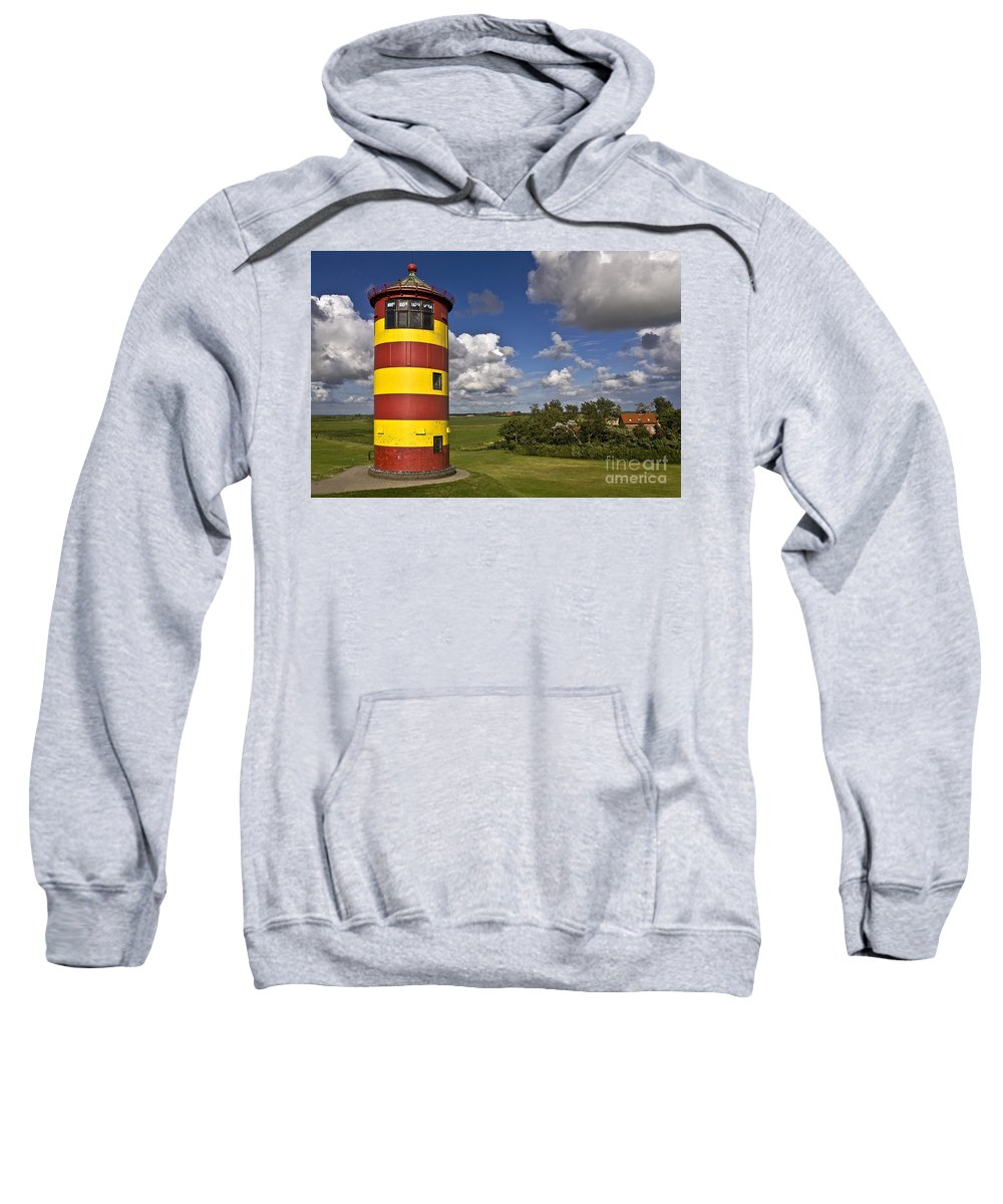 Heiko Sweatshirt featuring the photograph Striped Lighthouse by Heiko Koehrer-Wagner