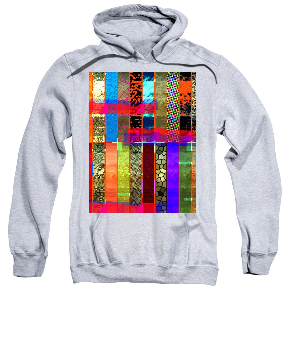 Abstract Painting Sweatshirt featuring the digital art Stripy by James Raynor