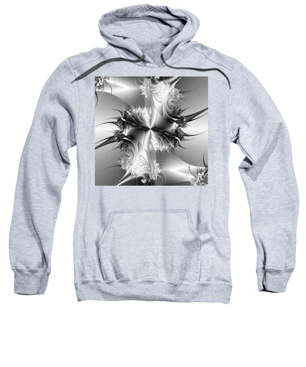 Abstract Sweatshirt featuring the digital art Strut by Dana Haynes
