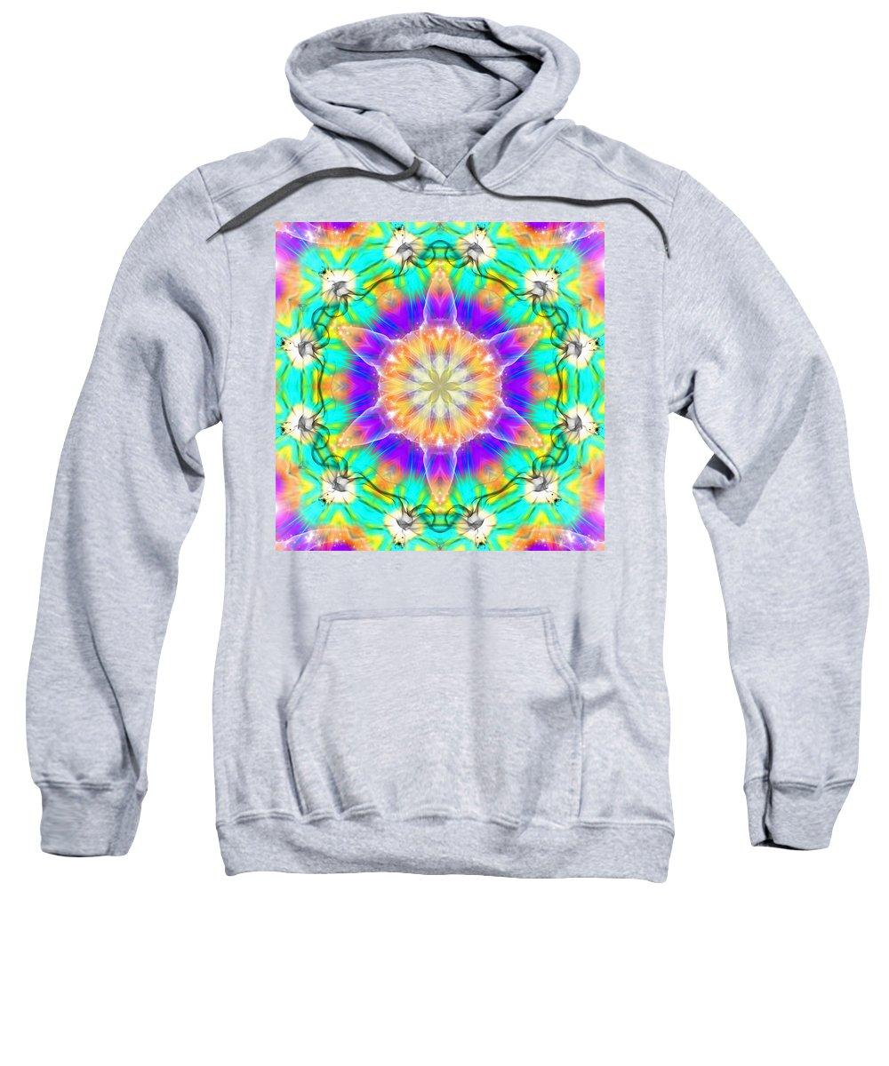 Sacredlife Mandalas Sweatshirt featuring the digital art Subconscious Emerald by Derek Gedney