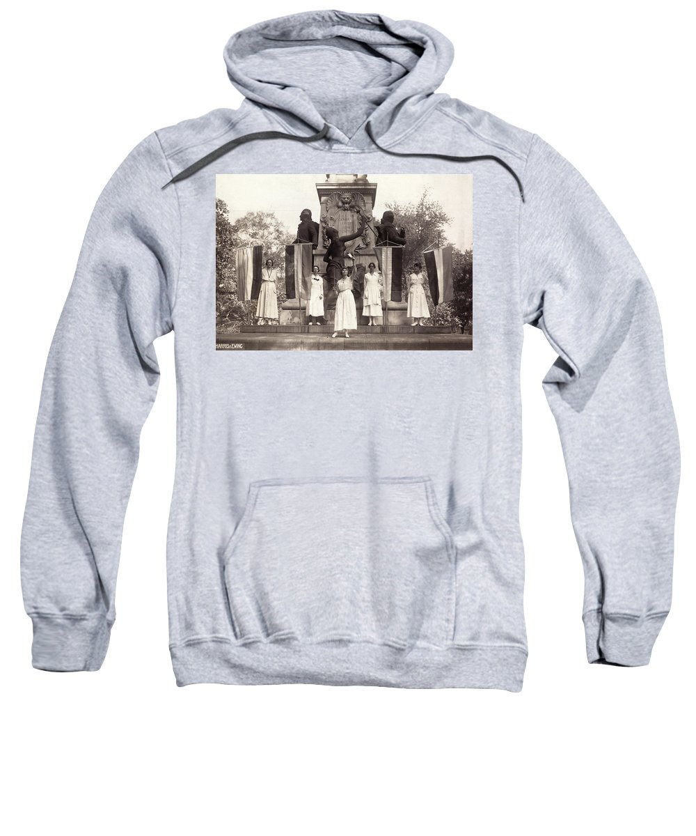 1918 Sweatshirt featuring the photograph Suffragettes, 1918 by Granger