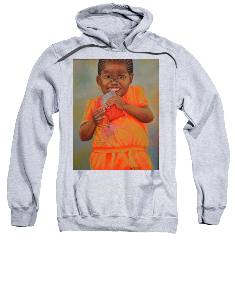 Portrait Sweatshirt featuring the painting Sugar Baby by Andy Ballentine