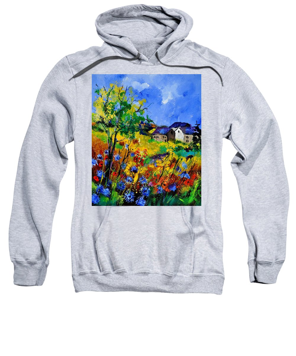 Landscape Sweatshirt featuring the painting Summer 673180 by Pol Ledent