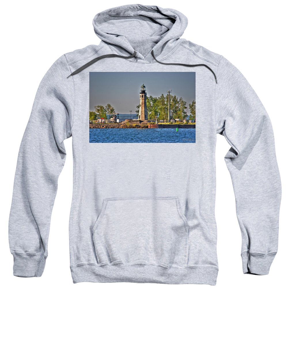 Lighthouse Sweatshirt featuring the photograph Summer Day View Of The Lighthouse by Michael Frank Jr