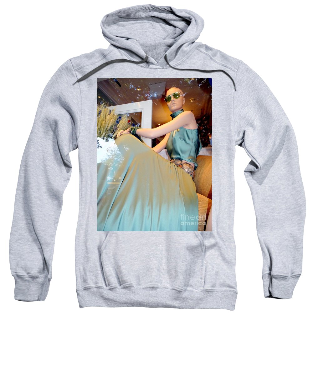 Mannequins.window Sweatshirt featuring the photograph Summer Elegance by Ed Weidman