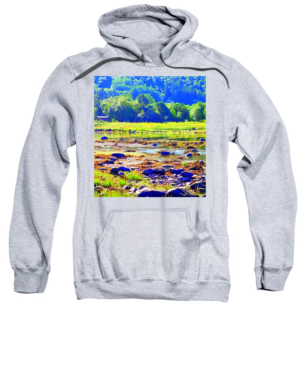 Landscape Sweatshirt featuring the photograph I Try To Keep The Summer Always In My Mind by Hilde Widerberg