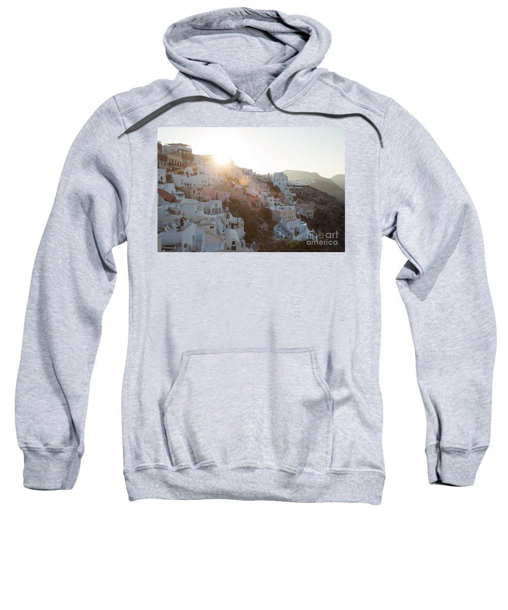 Sunrise Sweatshirt featuring the photograph Summer In Santorini by Matteo Colombo