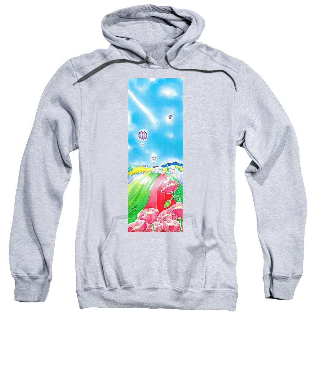 France Sweatshirt featuring the painting Summer Lights by Hisayo Ohta