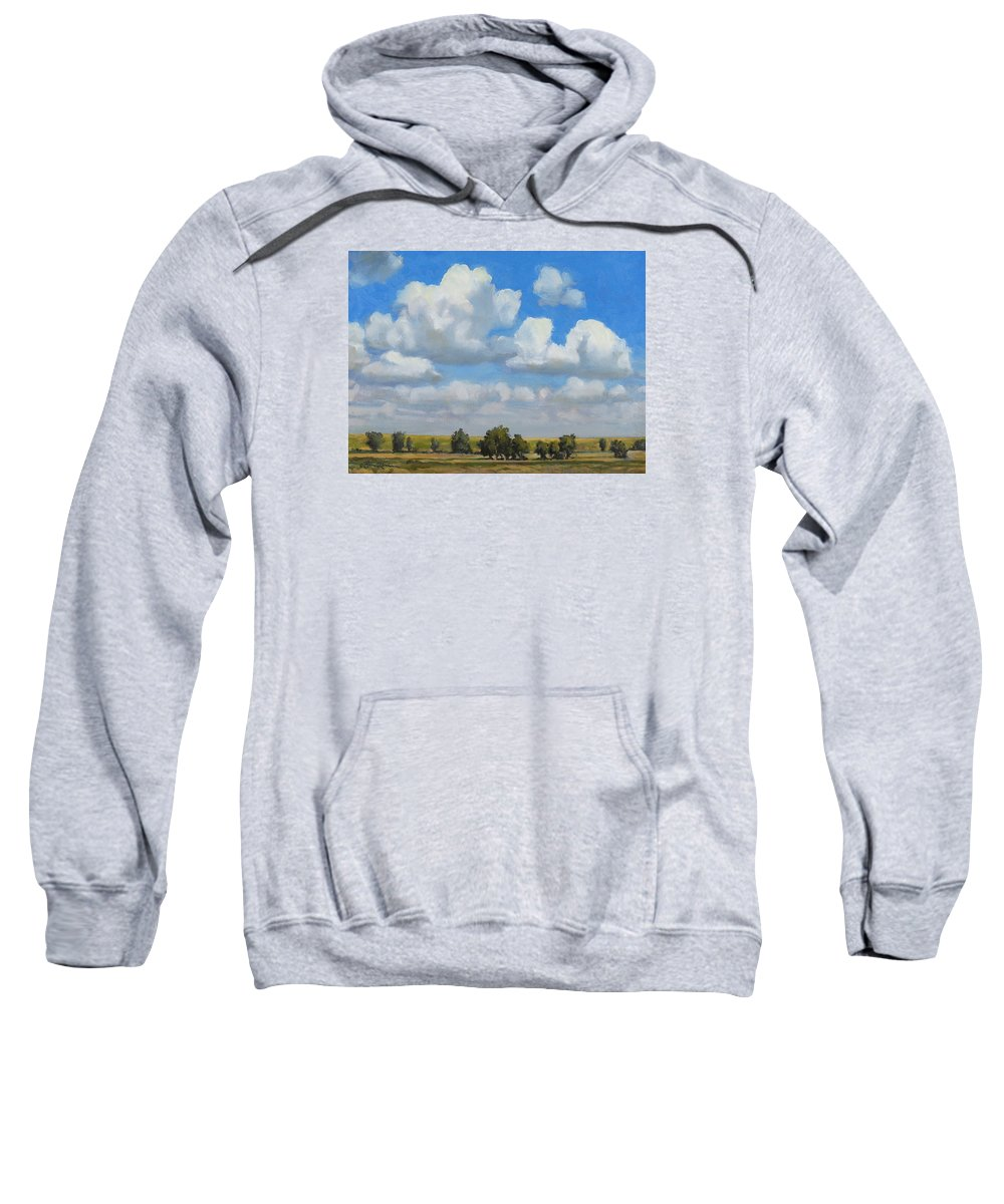 Landscape Sweatshirt featuring the painting Summer Pasture by Bruce Morrison