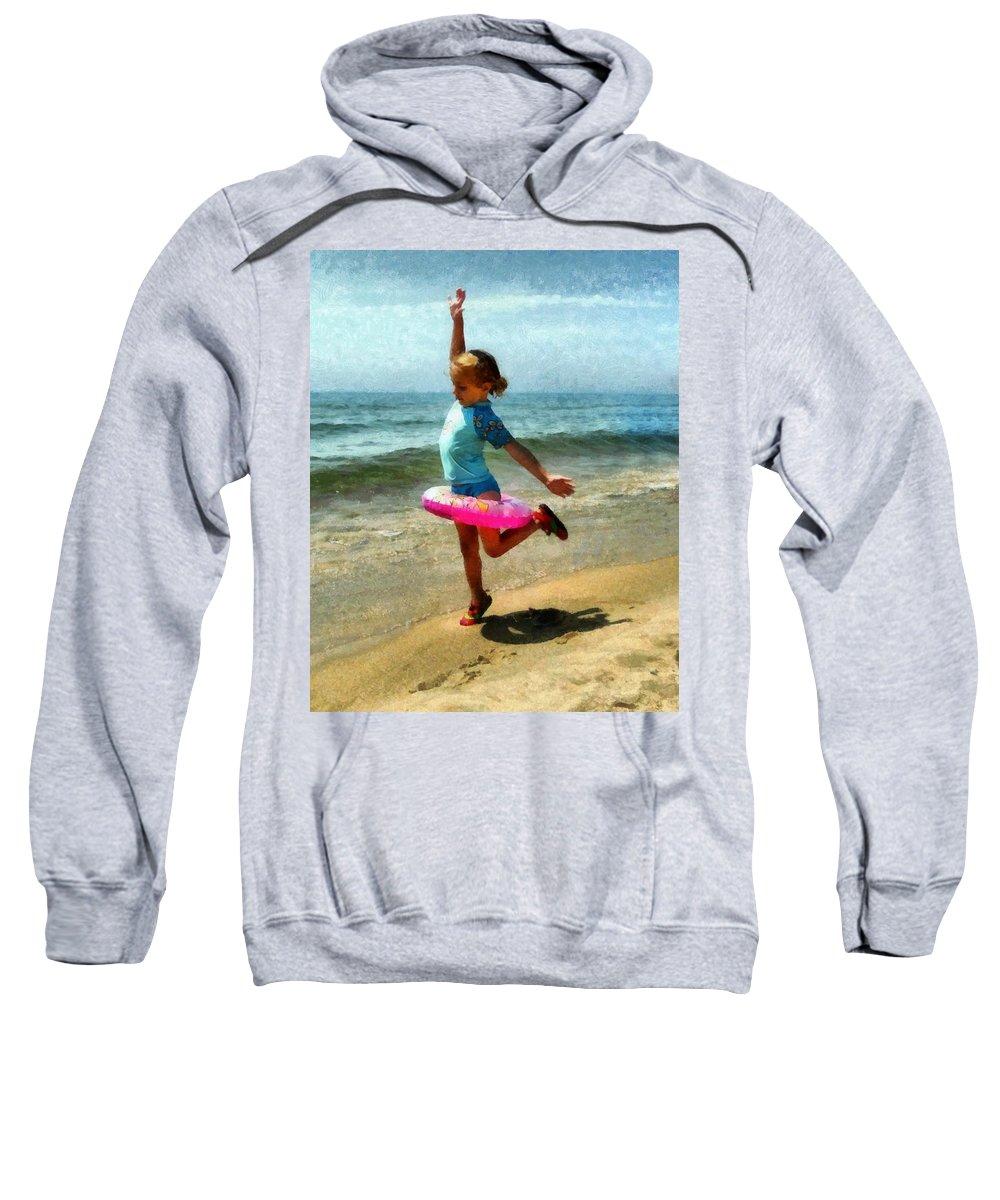Beach Sweatshirt featuring the photograph Summertime Girl by Michelle Calkins