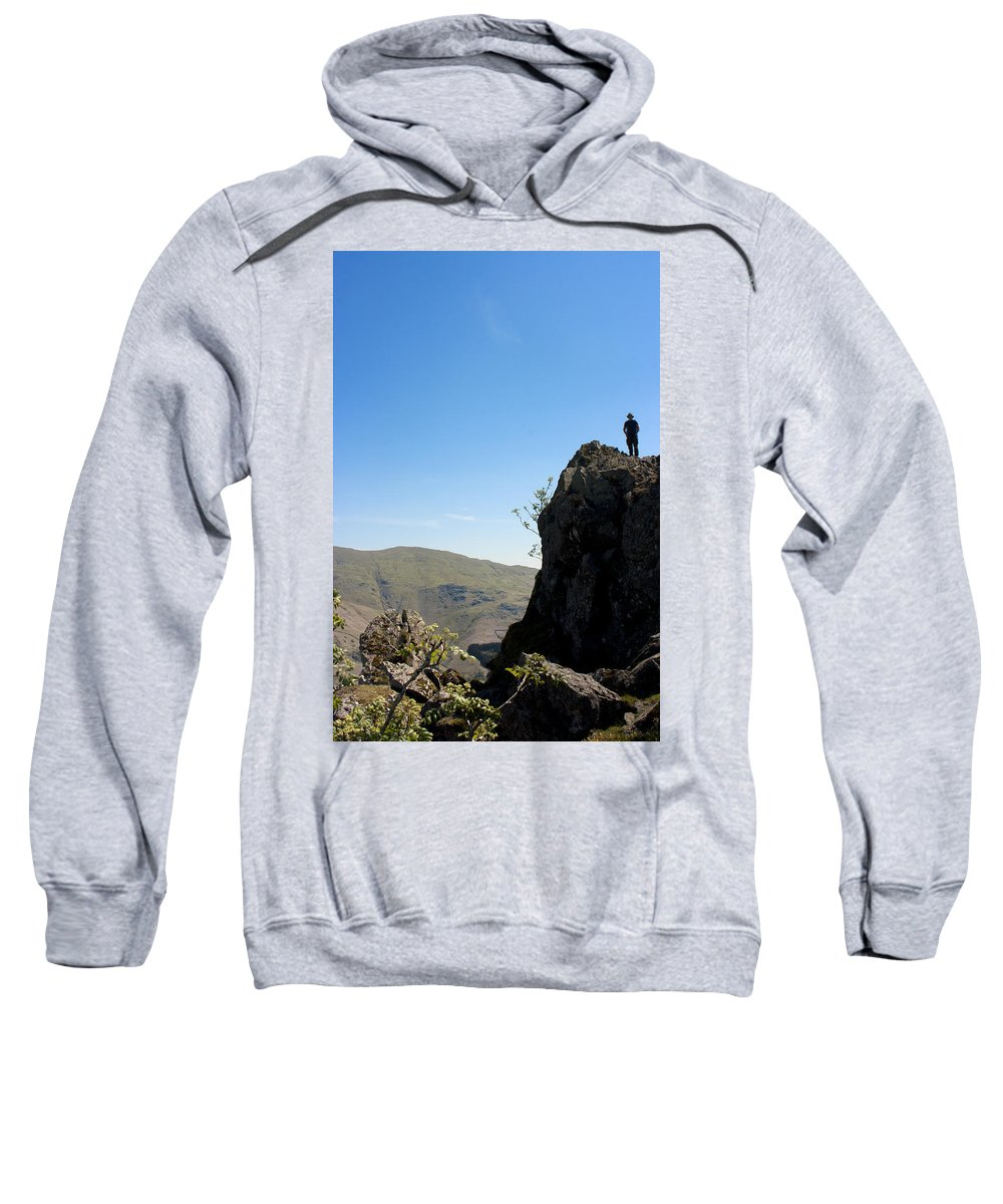 Helm.crag Sweatshirt featuring the photograph Summit View by Peter Lloyd