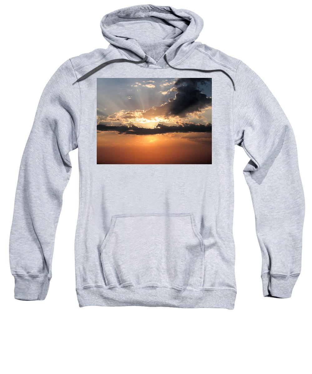 Sunset Sweatshirt featuring the photograph Sun Rays by Darcy Tate
