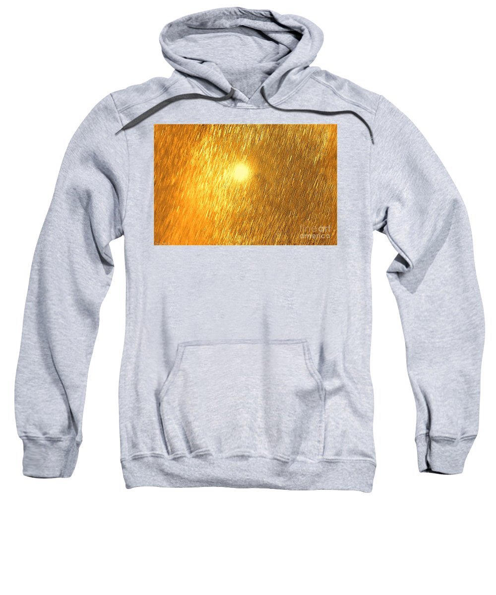 Abstract Sweatshirt featuring the photograph Sun Spot Abstrasct by Debbie Portwood
