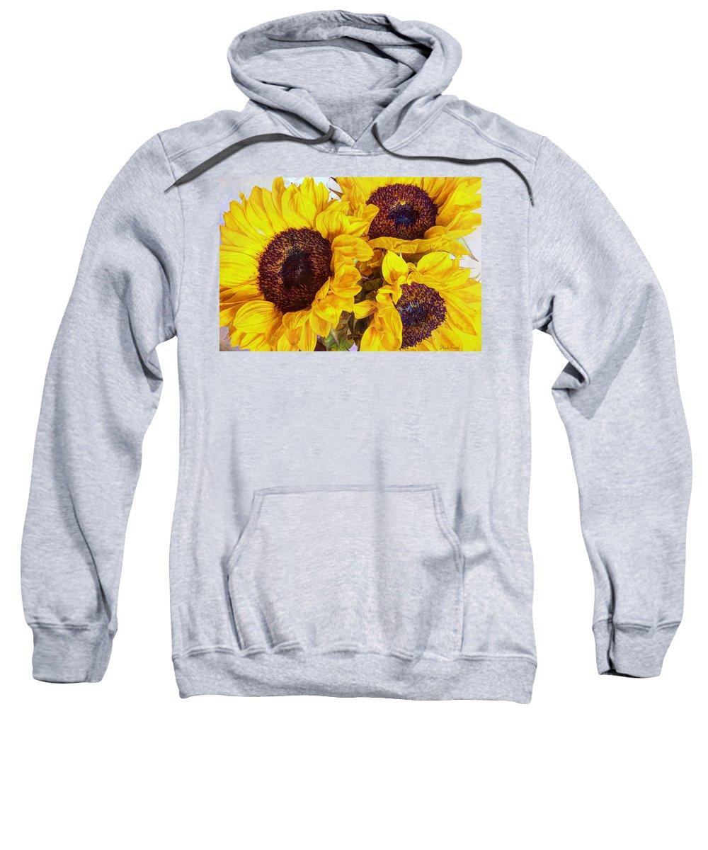 Yellow Sweatshirt featuring the photograph Sun Worship by Heidi Smith
